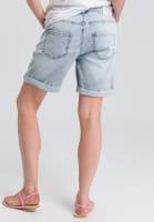 Denim Short with rolled-up hem