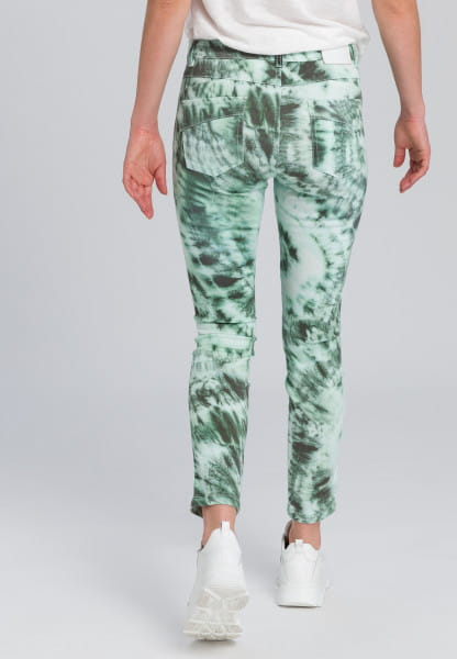 5-pocket in tie dye print