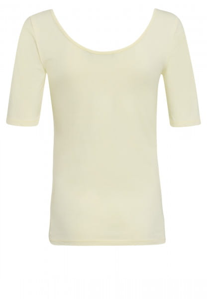 Basic shirt with plunge neckline