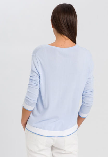 Knitted jumper with contrast trims