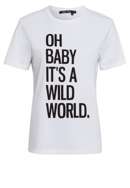T-Shirt mit Message-Print
