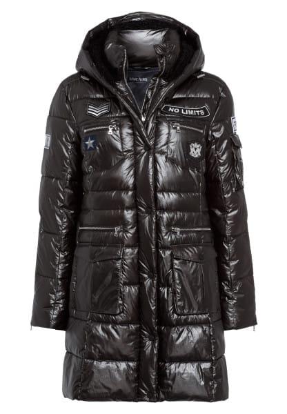 Down coat made from vegan down