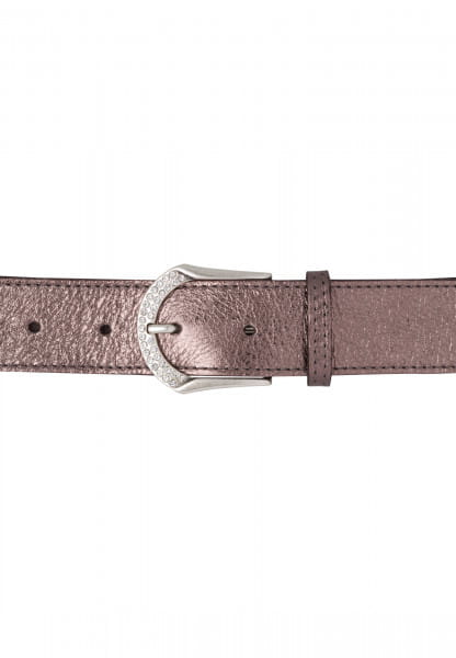 Belt with glitter stone on buckle