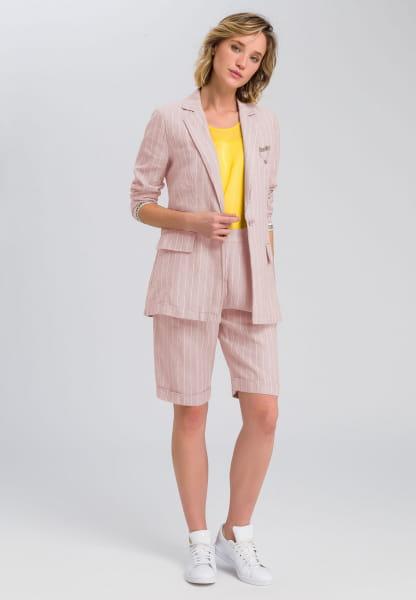 Linen blazers stripe look