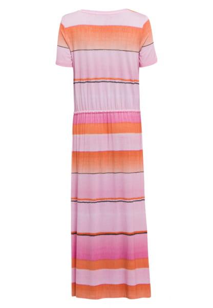 Jerseykleid mit Colour-Block-Streifen