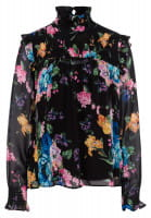 Slip-on blouse with floral pattern print