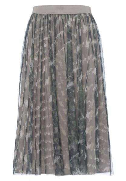 Tüllrock mit abstraktem Camouflageprint