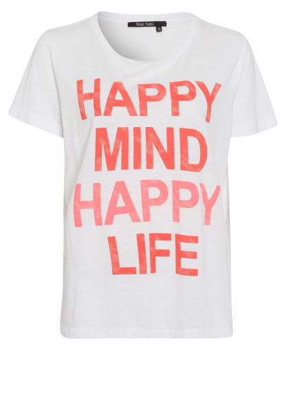 T-shirt with neon motto print