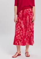 Midi Skirt with animal all-over print