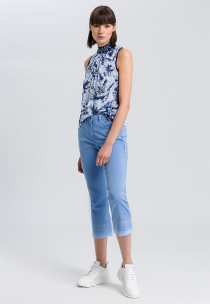 Blouse top with floral print