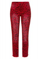 Jeans with leopard print