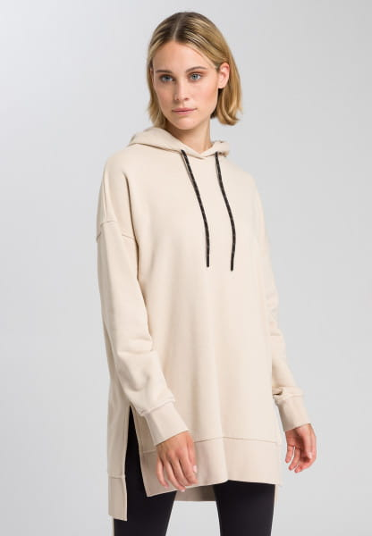 Jersey dress with stand-up collar