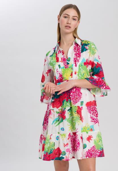 Tunic Dress with caribbean print