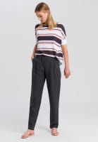 Knitted shirt with striped-print