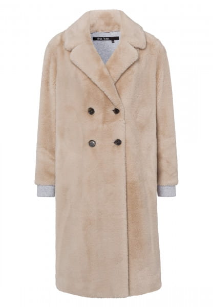 Coat made of soft faux fur