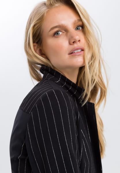 Blazer with glossy stripes