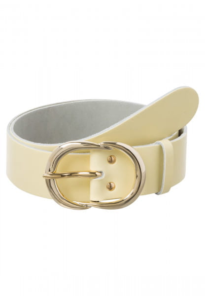 Leather Belt with golden coloured metal closure