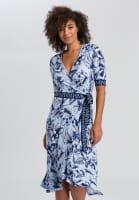 Midi dress with floral print
