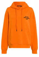 Hoodie with slogan print on the front