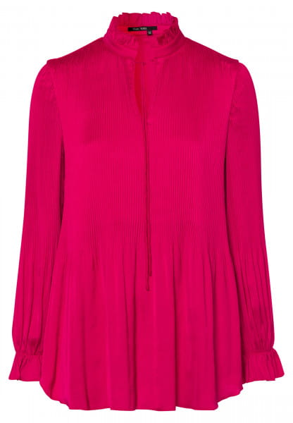 Slip-on blouse allover wrinkle effect