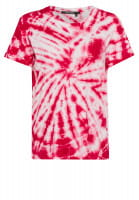 T-shirt with batik pattern and embroidery