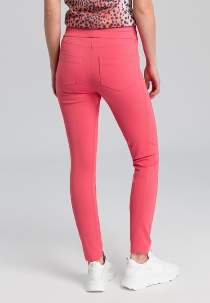 Jersey trousers mit dekorativen Nähten