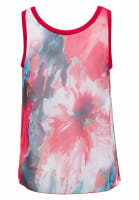 Chiffon top with watercolour all-over pattern
