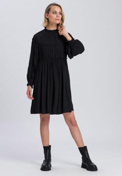 Dress in a stepped design