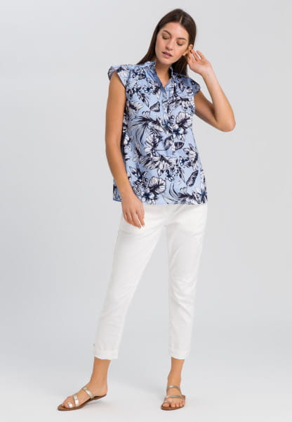 Blouse top with wing sleeves