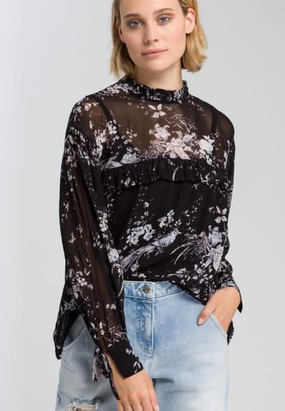 Bluse mit zartem Blumenmuster