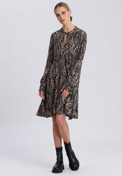 Dress with loop collar