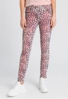 5-Pocket im Leoparden-Look