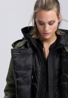 Short coat in stylized military style
