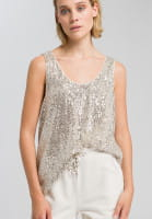 Top made from sequin tulle