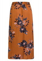Wrap skirt with floral print