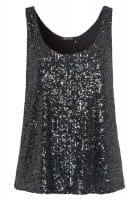 Top from sequin jersey