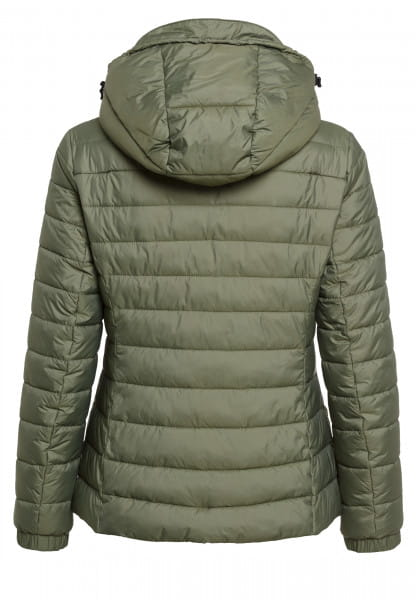 Down jacket with vegan down filling