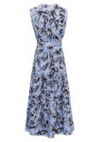 Maxi dress with tropical print