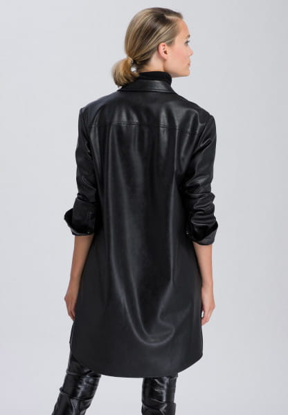 Blouse made of faux leather