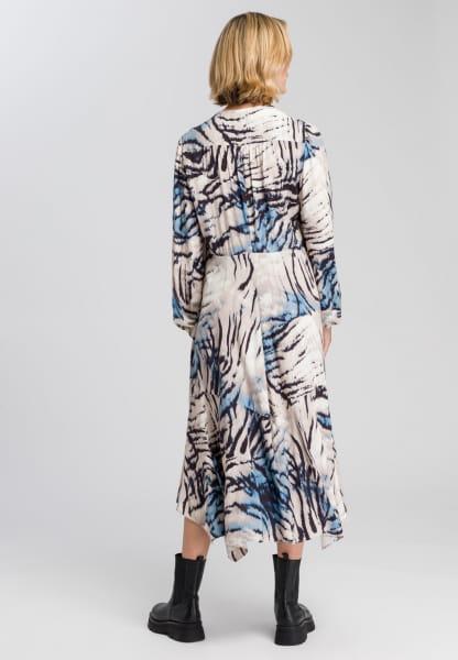 Kleid mit abstraktem Animalprint