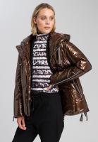 Outdoor jacket in metallic style