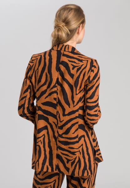 Blazer with tiger pattern