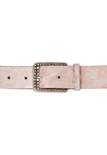 Belt mit marmorierter Metallicoptik