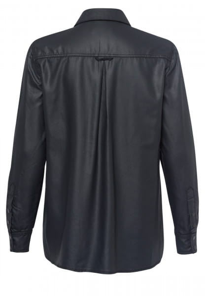 Lyocell shirt in leather-look