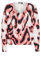 Pullover mit modernem Aquarellprint