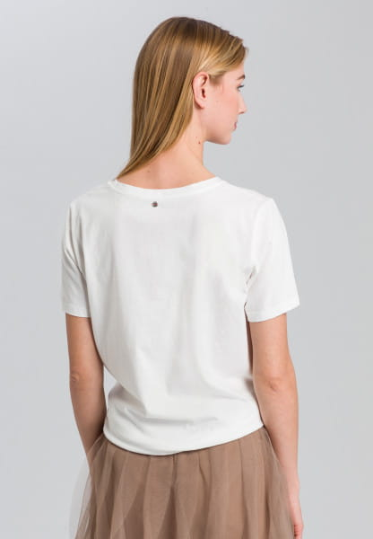 T-shirt with writing and neon detail