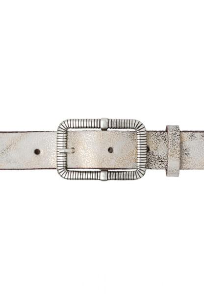 Gürtel in Metallic-Snake-Look