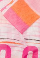 Rectangular Scarf in stripe-pattern-mix