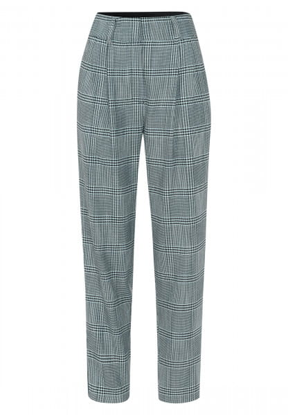 Pants with large checkered pattern