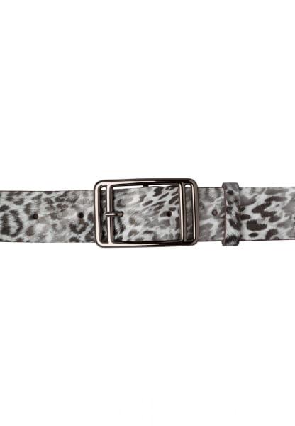 Belt with leopard print